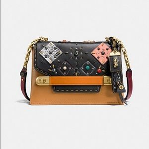 Coach Swagger Patchwork Prairie Rivets Crossbody